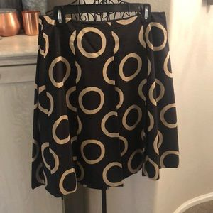 Banana Republic Black and Tan A-Line Skirt